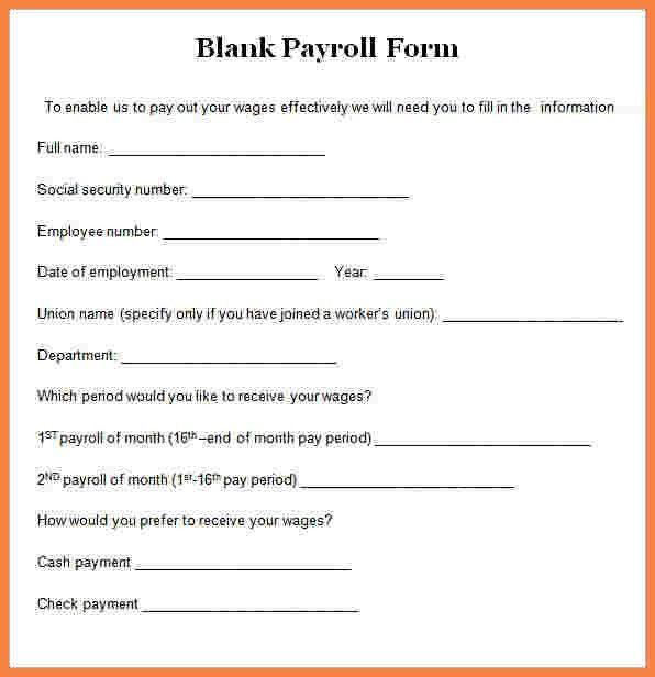 4+ employee payroll forms template | Securitas Paystub