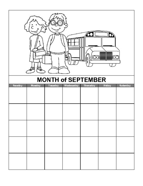 Education World: September Calendar Template