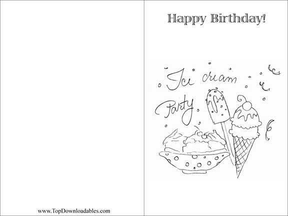 Printable Birthday Card Template – gangcraft.net