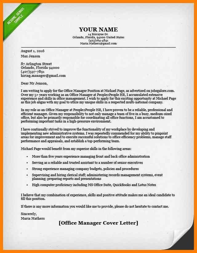 Cover letter finance job
