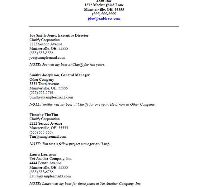 Wonderful Beautiful Looking Resume Reference Template 4 References Sample .