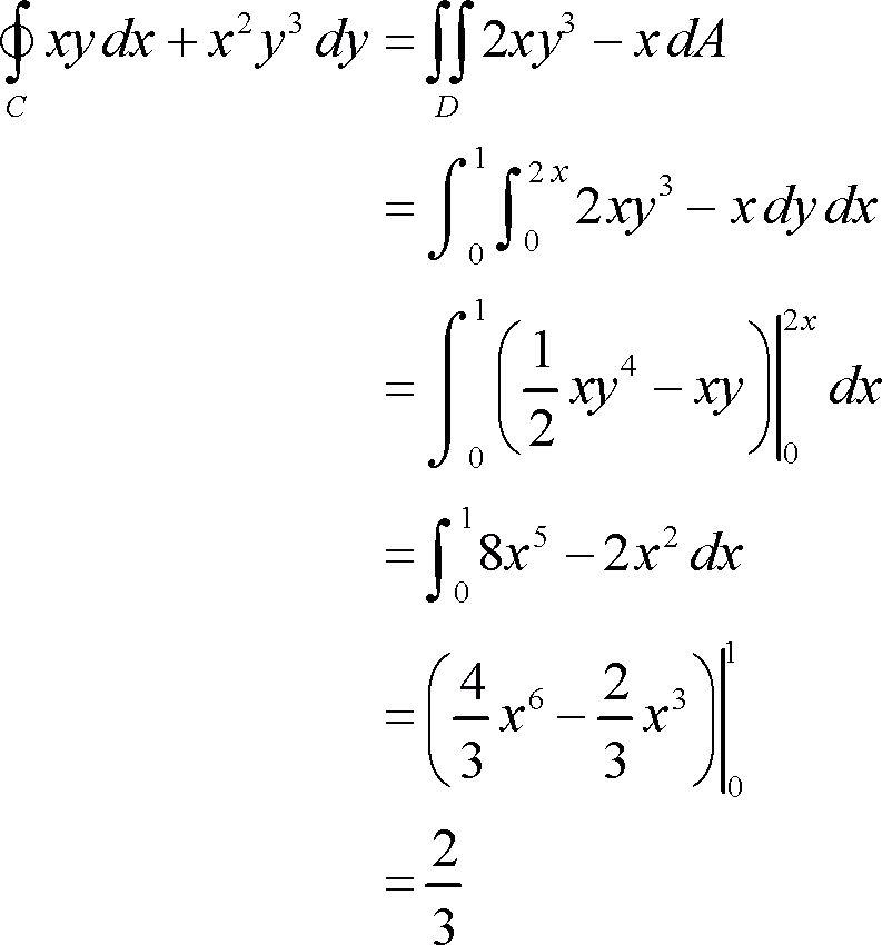 Calculus III - Green's Theorem