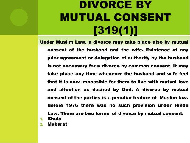 Divorce under muslim law