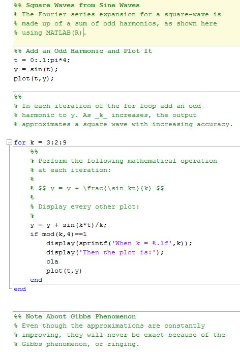 Publishing MATLAB Code - MATLAB & Simulink