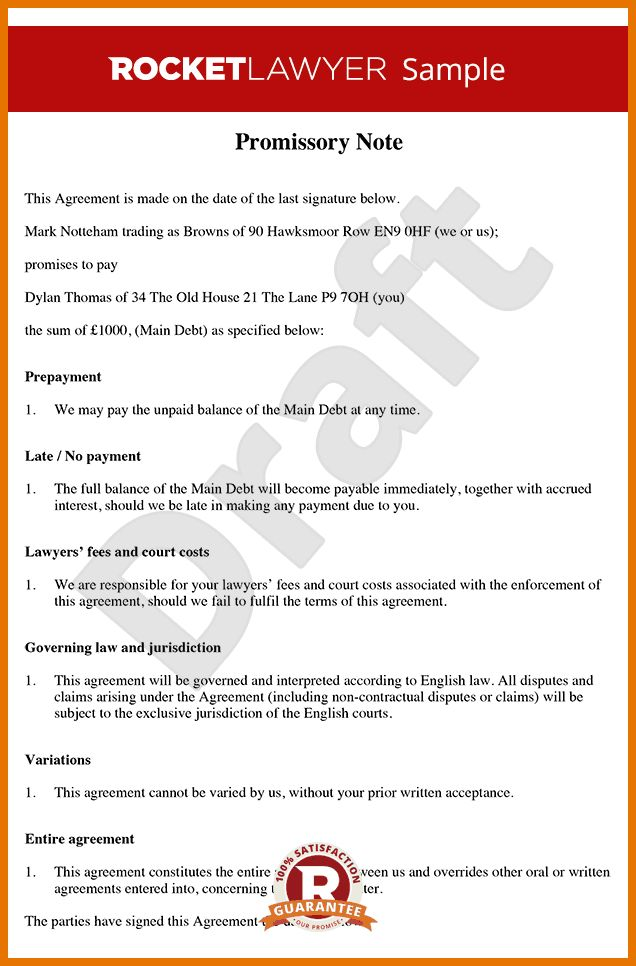 7+ promissory note template free | Itinerary Template Sample