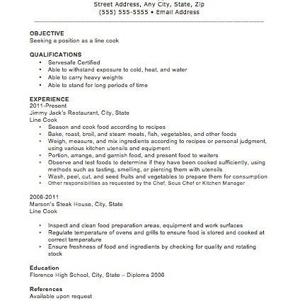 Cook Resume Examples. Cook Resume Line Cook Resume 7587 Chef ...