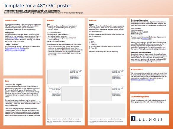 Research poster template free powerpoint research poster 10 powerpoint poster templates free sample example format toneelgroepblik Images
