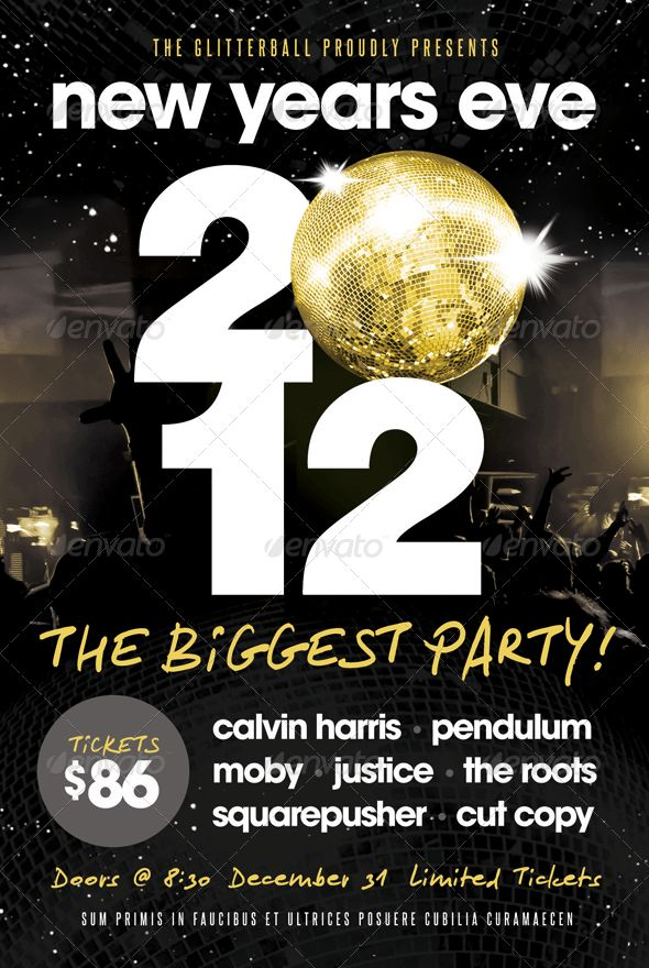New Years Eve - Flyer Template | Flyer template, Event flyers and ...
