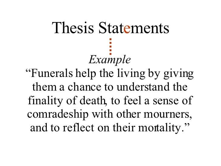 Lesson 5: Thesis Statements