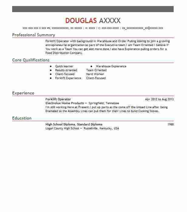 forklift resume resume sample for forklift forklift resume resume