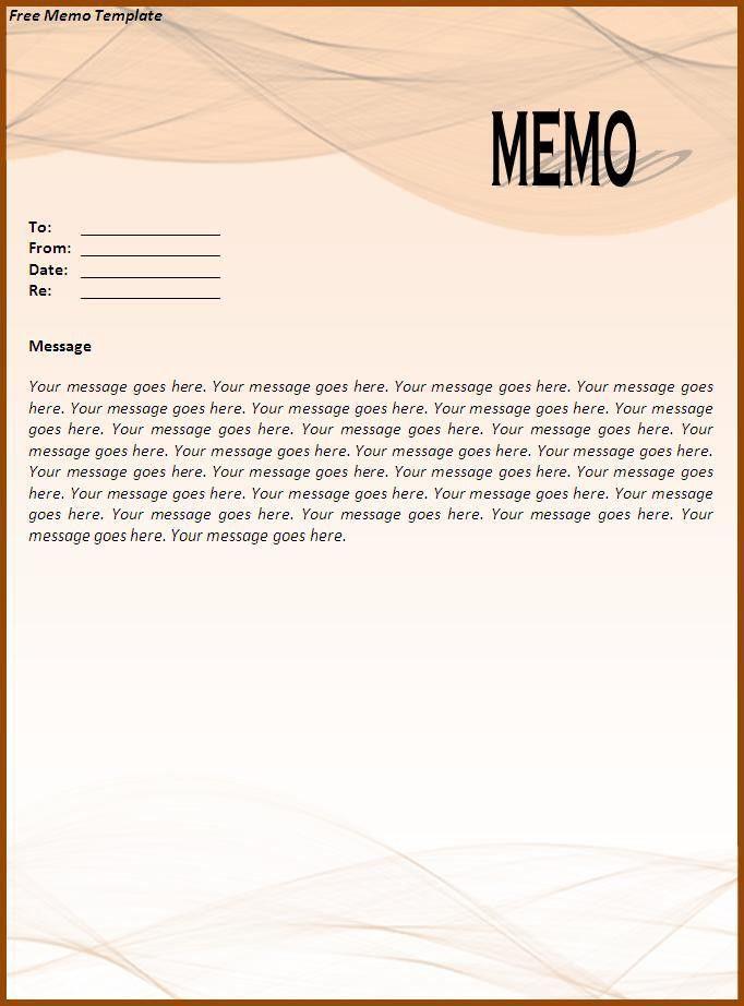 fax memo templates free