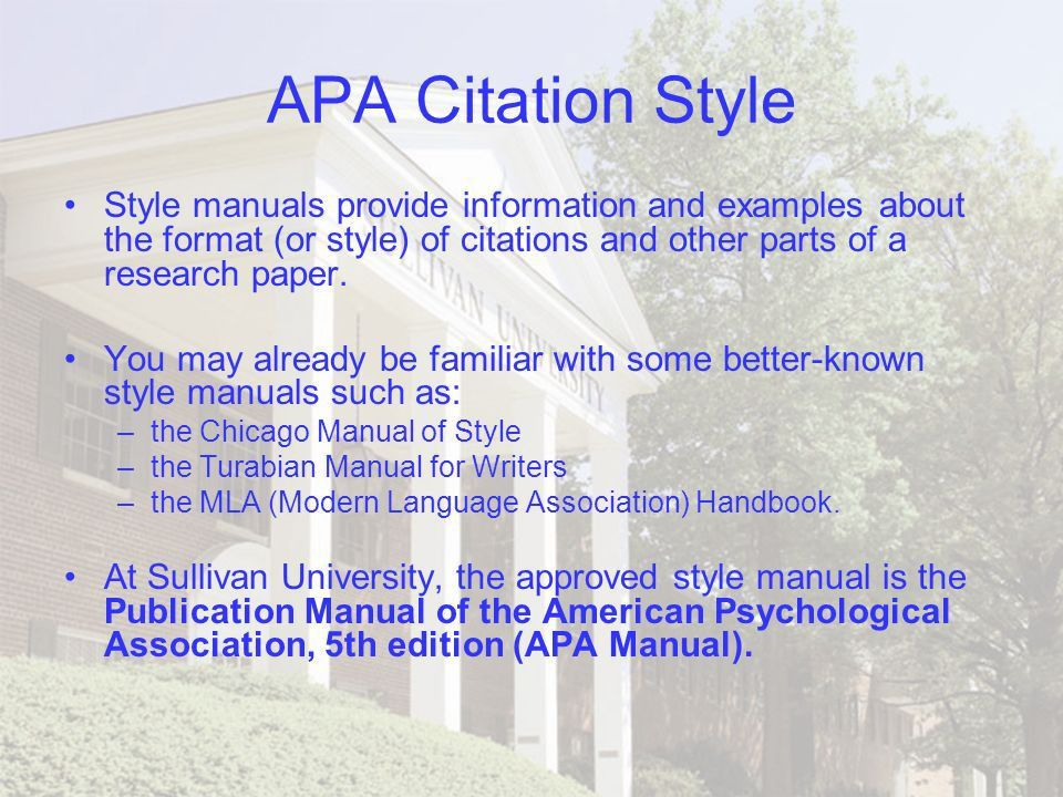Term paper style manual