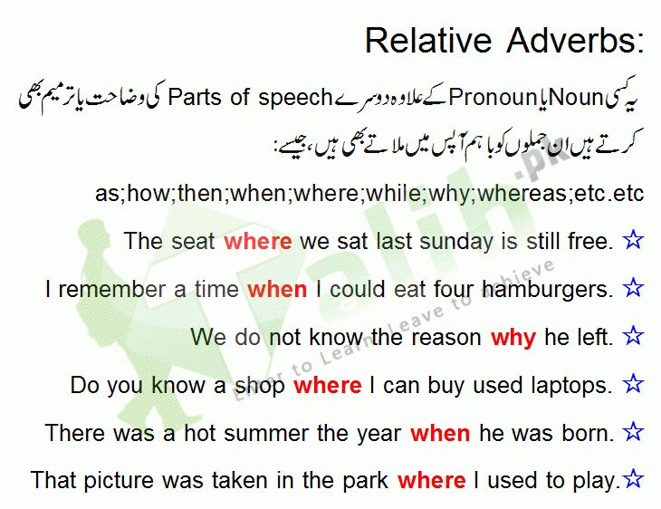 Adverb, Relative Adverb, Interrogative Adverb Definition Examples ...