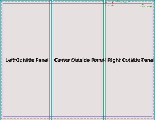 Simple Blank Tri Fold Brochure Template : Helloalive
