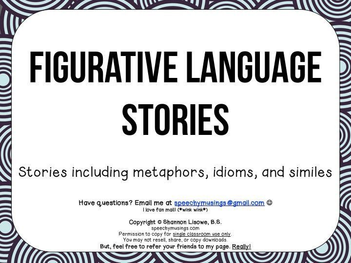 Figurative Language in Short Stories | Speechy Musings