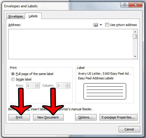 How to Choose an Avery Label Template in Word 2010 - Solve Your Tech