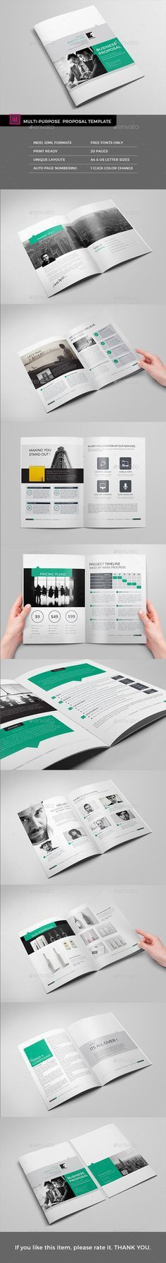 Project Proposal InDesign Template v2 | Project proposal, Indesign ...
