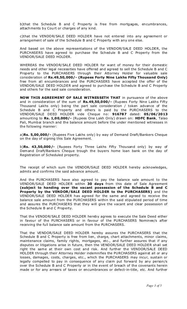 Deed Of Sale Template - Contegri.com