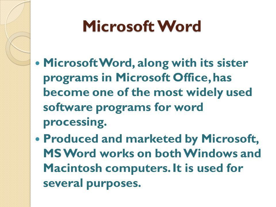 Uses Of Microsoft Word In A Doctor's Practice - ppt video online ...