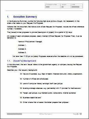 request for proposal template wordReference Letters Words ...
