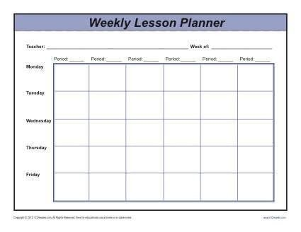 Weekly Multi-Period Lesson Plan Template - Secondary