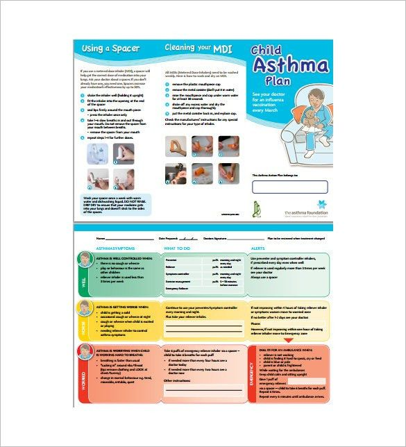 Asthma Action Plan Template – 10+ Free Word, Excel, PDF Format ...