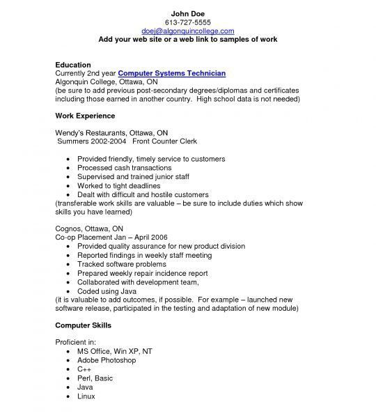 Sweet Computer Technician Resume 14 Tech Templates - Resume Example