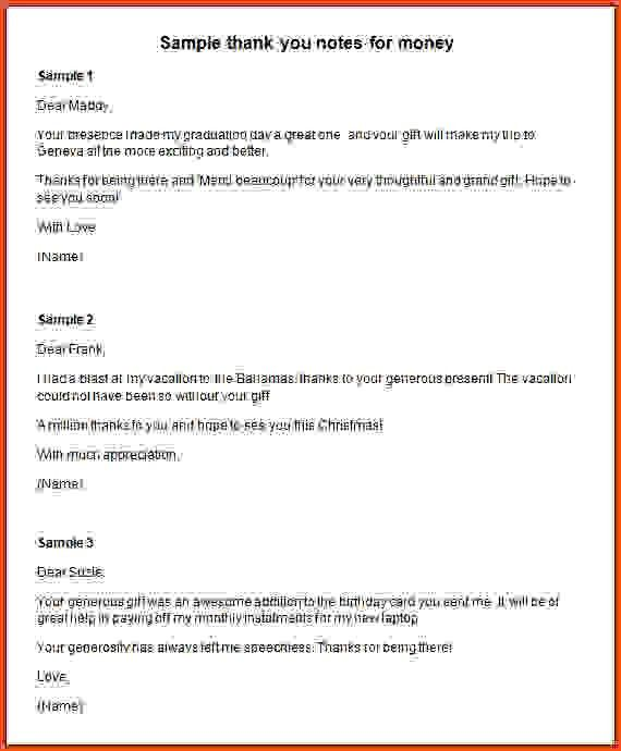 Thank You Notes Sample. 69+ Thank-You Letter Examples Thank You ...