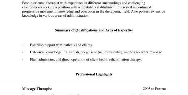 2017 example resume for massage therapist. massage therapist ...