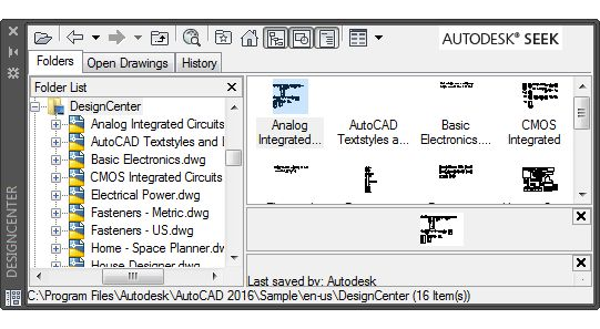 DesignCenter Window | AutoCAD | Autodesk Knowledge Network