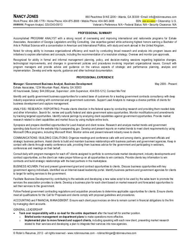 usa resume template federal resume template required name contact ...