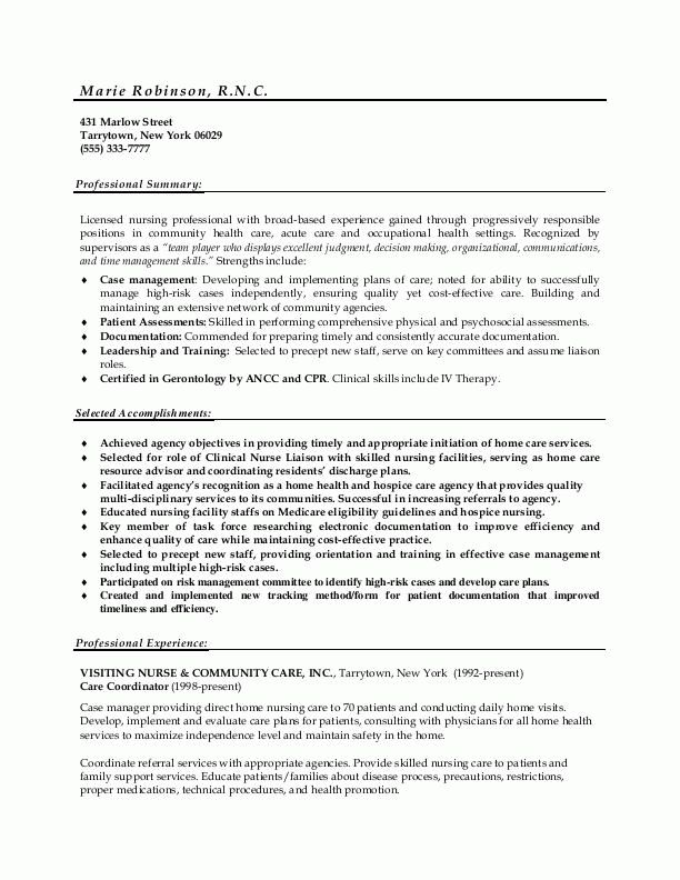resume objective for rn healthcare medical resume free rn resume ...