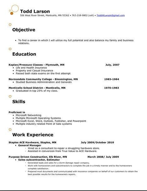 Resume Objective - CV Resume Ideas