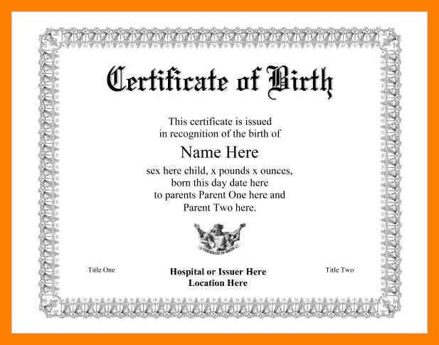 7+ birth certificate template for microsoft word | emt resume