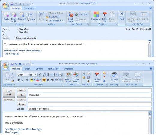 Creating and Using Templates in Outlook 2007 and Outlook 2010 to ...