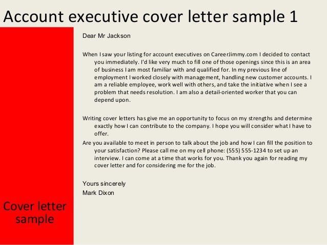 Client Account Manager Cover Letter