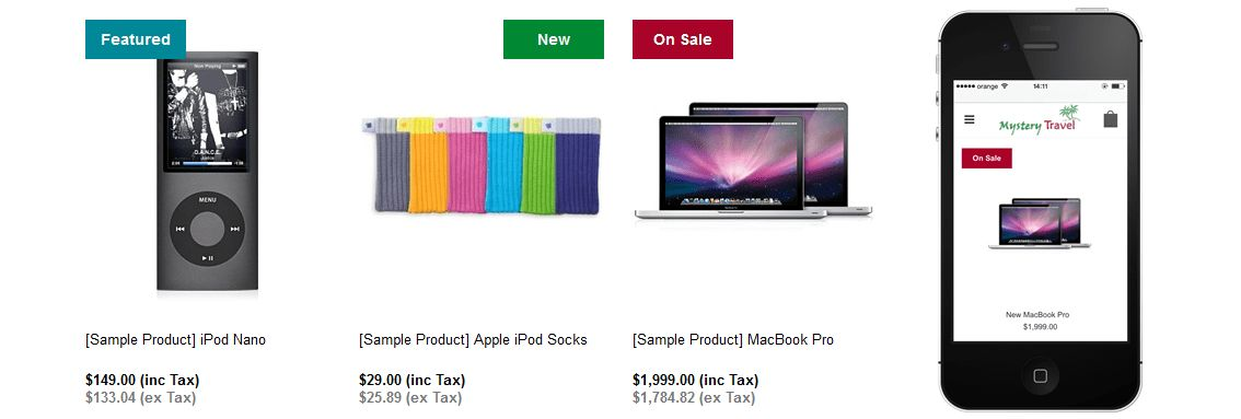 Bigcommerce Product Labels