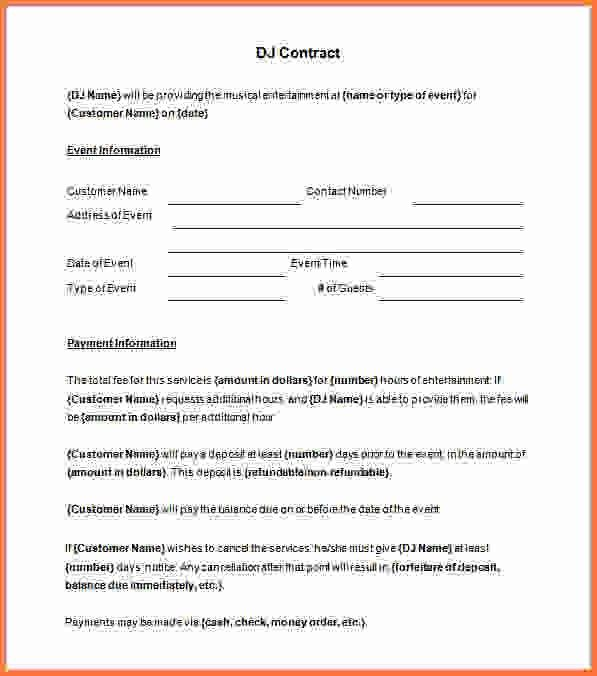 dj contract template - Sales Report Template