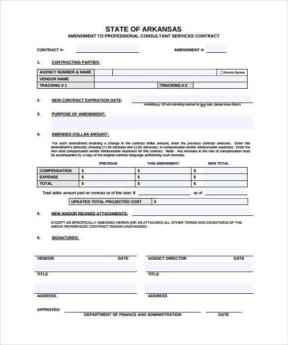 Sample Contract Amendment Template. Sponsorship Agreement ...