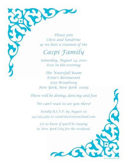 Reunion Invitation Template - Invitation Template