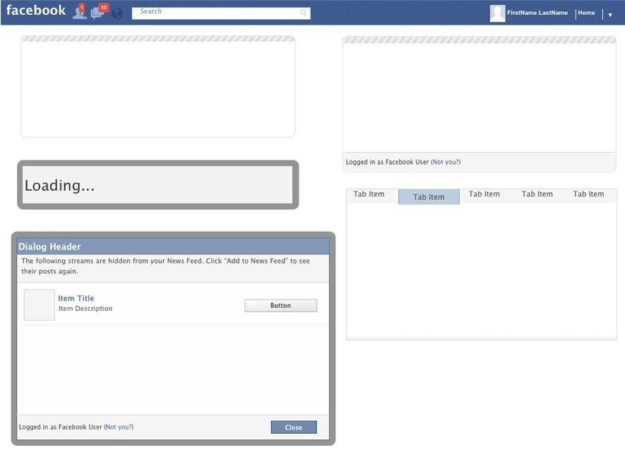 Fakebook Template - Contegri.com