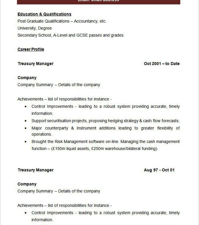 First-Class Blank Resume Templates 7 40 Blank Resume Templates ...