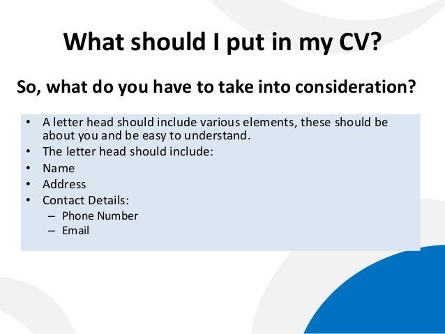 What To Put Into A Cover Letter #14905