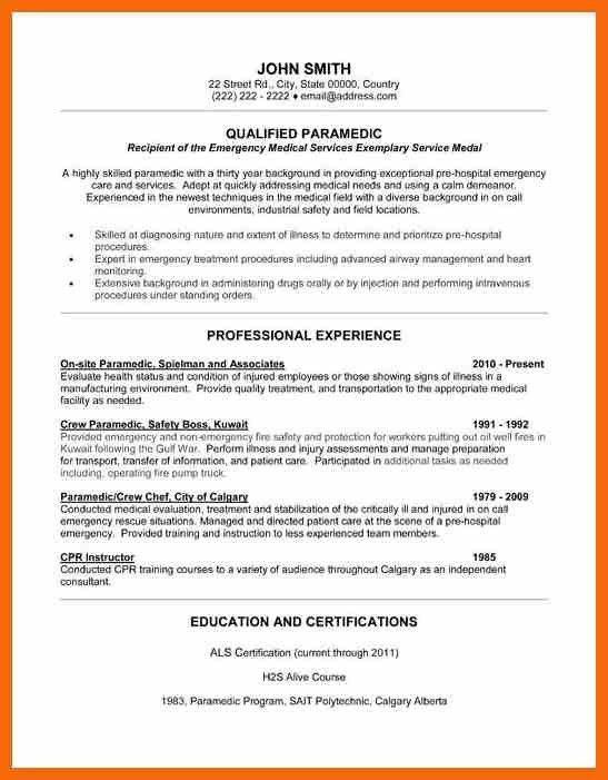 9+ emt resume | credit letter sample