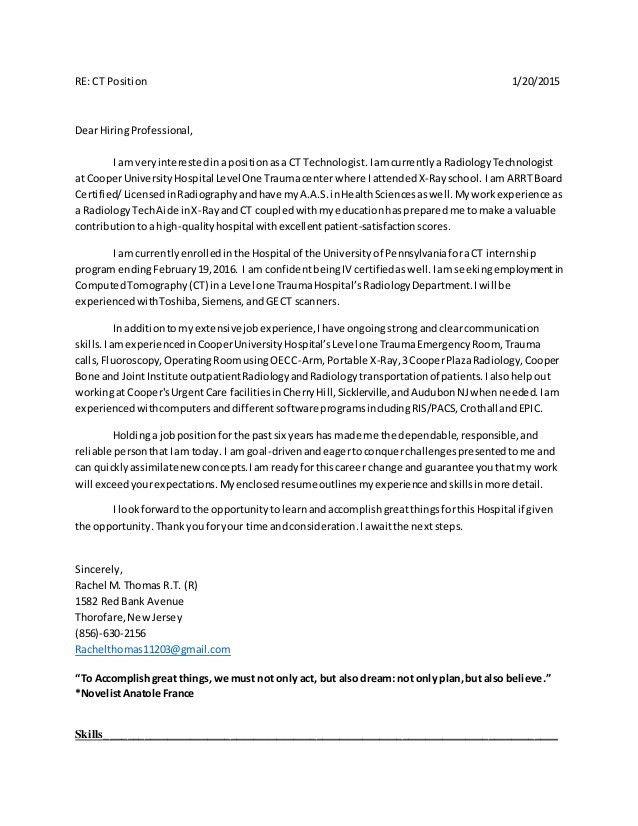 Cover letter & Resume together
