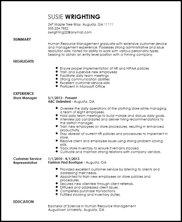 Free Entry Level Recruiter Resume Template | ResumeNow