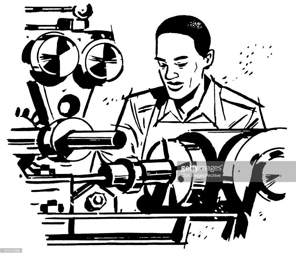 Press Operator Stock Illustration | Getty Images