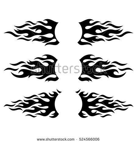 Black Vector Fire Flame Design Elements Stock Vector 604323713 ...