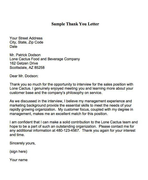 Best 25+ Thank you interview letter ideas on Pinterest