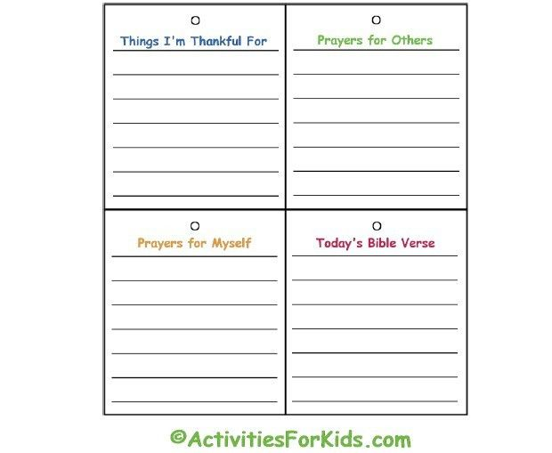 Child's Prayer Journal | Printable prayers, Journal and Sunday school